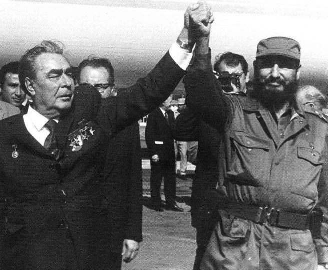 Fidel y Brezhnev