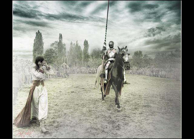 """El Machista vs Caballero: """"Yo os protegeré, y os defenderé,no os preocupeis, bella damisela."""". Foto:  Jose Ramirez"""
