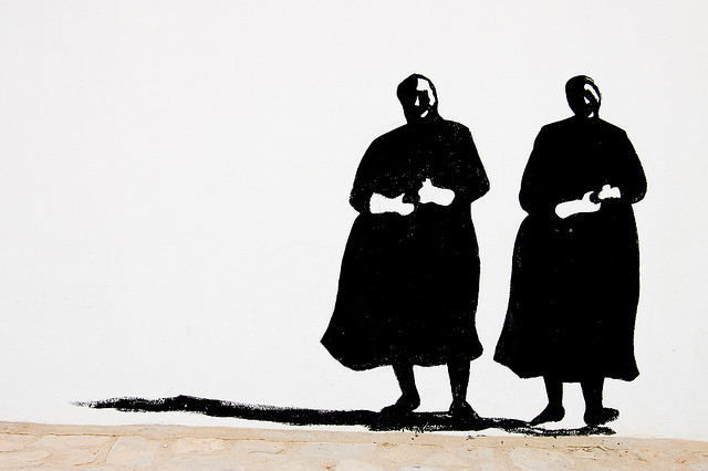 """""""De duelo"""" .Pintada en el Cerro de los Molinos. España, foto: Víctor Martín"""